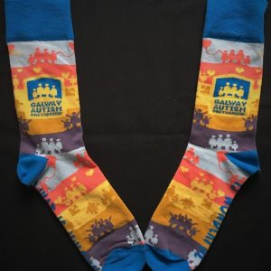Full view of pair of socks